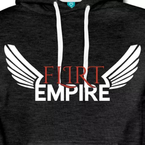 Flirt Empire Premium Hoodie Männer Logo